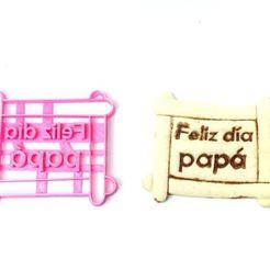 Descargar modelos 3D cookie cutters cortantes galletas dia del padre frame , PatricioVazquez