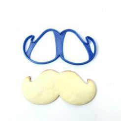 Descargar STL cookie cutters cortantes galletas dia del padre bigote moustache y galera, PatricioVazquez