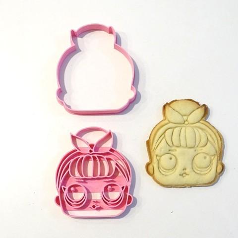 3D printing model lol surprise 3 cookie cutter 2 pieces, PatricioVazquez