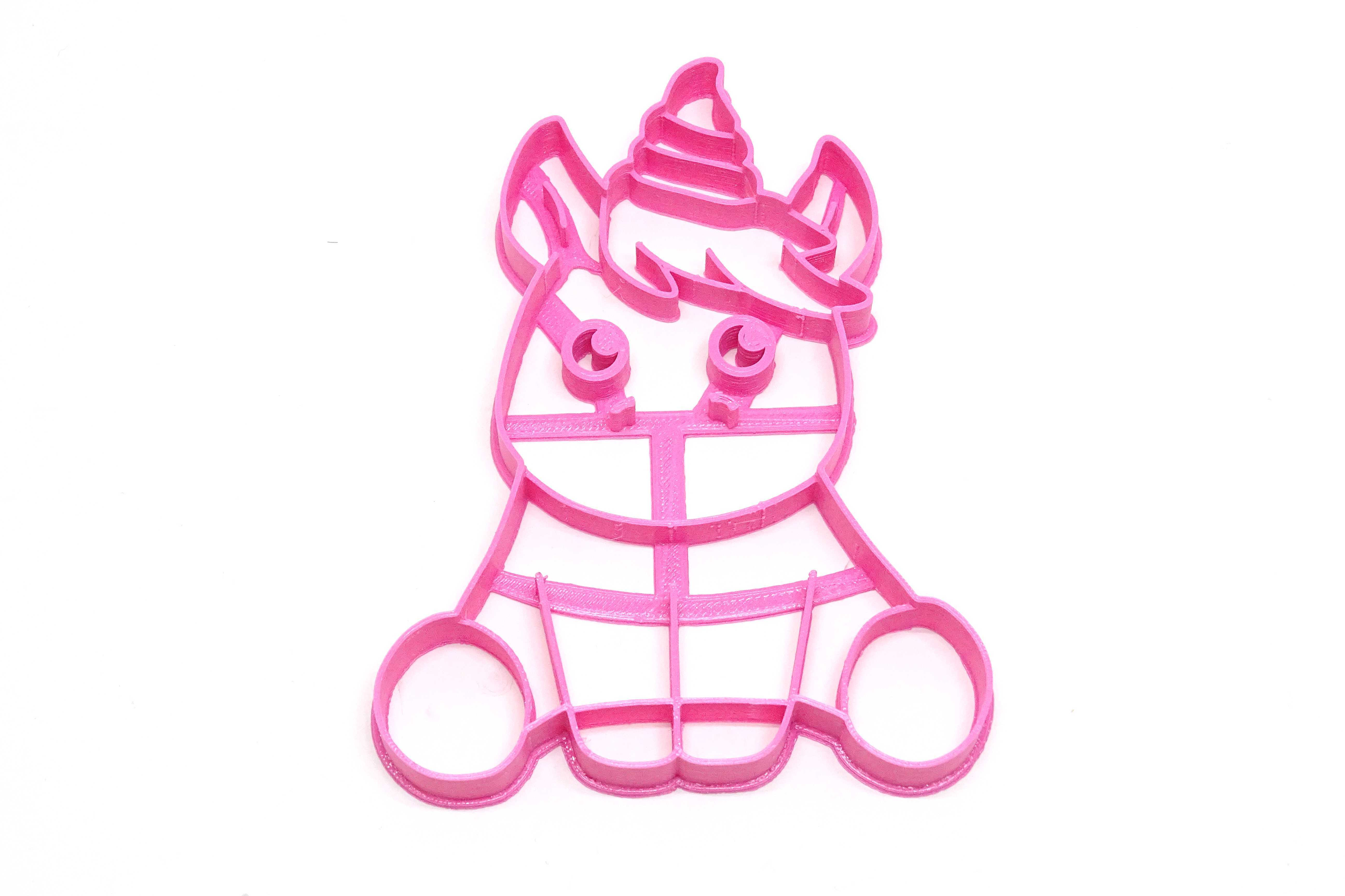 unicornio bb.JPG Download STL file unicorn cookie cutter unicorns • 3D print model, PatricioVazquez