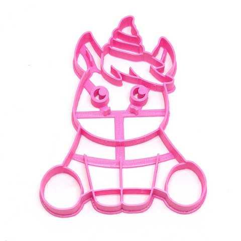 Descargar modelos 3D para imprimir unicorn cookie cutter unicornios, PatricioVazquez