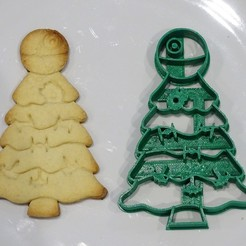 3D print files star wars christmas cookie cutter death star tree, PatricioVazquez