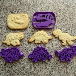 Download STL dinosaurs dinosaur cookie cutters, PatricioVazquez