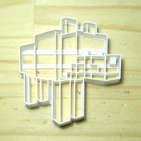 Download STL files cookie cutter minecraft dog cookie cutter, PatricioVazquez