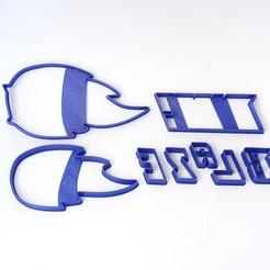 Imprimir en 3D cortantes galletas cookie cutter blaze logo , PatricioVazquez