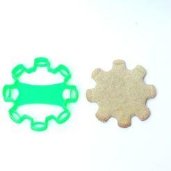 Descargar diseños 3D cookie cutter cortante galletitas corona virus covid 19, PatricioVazquez