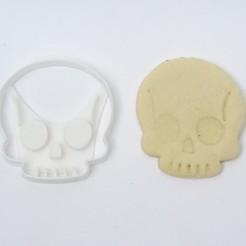 DSC05459.JPG Download STL file cookie cutters halloween cookies skull • 3D printable model, PatricioVazquez