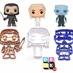 stl files funko game of thrones night king jon snow daenerys got, PatricioVazquez
