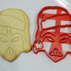3D printing model star wars christmas cookie cutter darth vader, PatricioVazquez