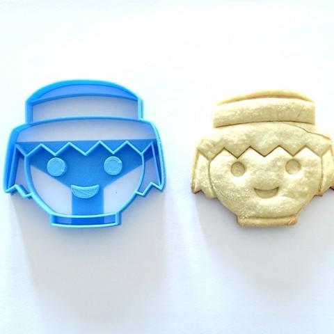 Descargar modelos 3D para imprimir cortante galletitas cookie cutter playmobil , PatricioVazquez