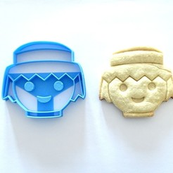 Descargar modelos 3D para imprimir cortante galletitas cookie cutter playmobil , PatricioVazquez