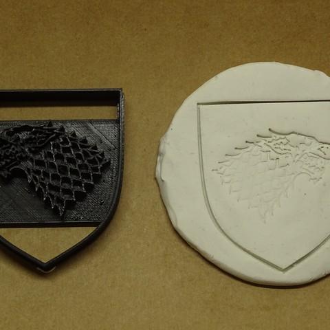 Download STL file Stark cookie stark game of thrones got • 3D printer object, PatricioVazquez