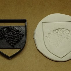 Descargar STL cortante galletitas stark game of thrones got, PatricioVazquez