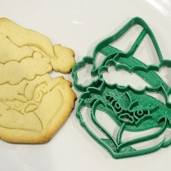 3D printer models grinch christmas cookie cutter cutter christmas, PatricioVazquez