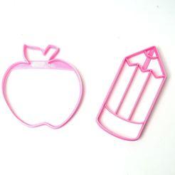 Download STL file cookie cutters apple pencil cutters • 3D printable model, PatricioVazquez