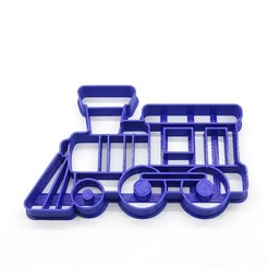 STL file cookie cutter train train cutting biscuits, PatricioVazquez