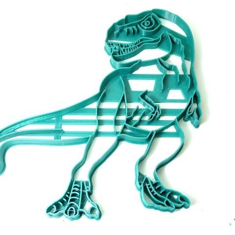 Télécharger fichier 3D coupeur biscuits TREX dinosaure dinosaure dinosaure, PatricioVazquez
