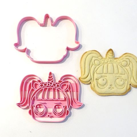 lol surprise 2 unicorn cookie cutter 2 pieces