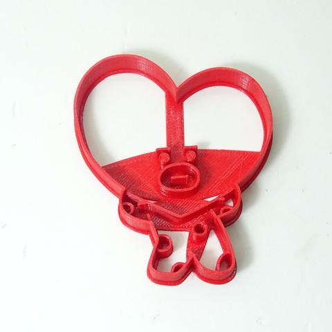 3D printing model cookie cutter bts BT21 tata cortante de galletas, PatricioVazquez
