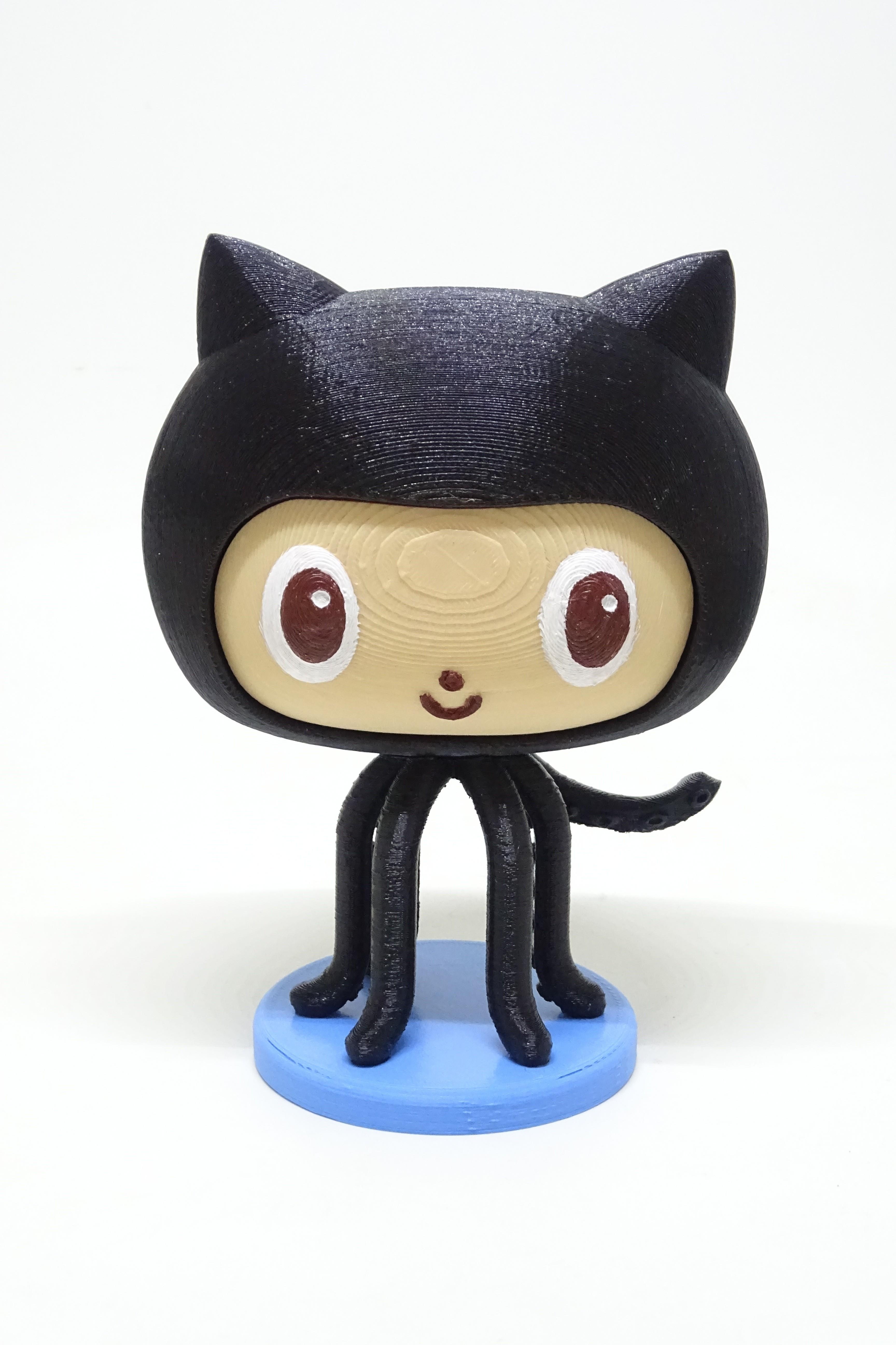 octocat.JPG Download free STL file github octocat • Model to 3D print, PatricioVazquez