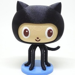 Modelos 3D gratis github octocat, PatricioVazquez