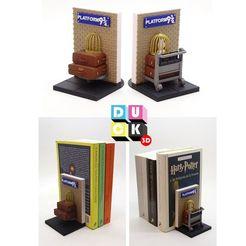 hp bookholder.jpg Télécharger fichier STL porte-livre harry potter plate-forme porte-livre 9 3/4 porte-livre • Plan imprimable en 3D, PatricioVazquez