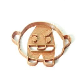 DSC04873.JPG Download STL file cookie cutter bts BT21 shooky cookie cutter • 3D printable template, PatricioVazquez