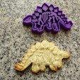 DSC04354.JPG Download STL file dinosaurs dinosaur cookie cutters stegosaurus • Template to 3D print, PatricioVazquez