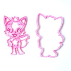 DSC05428.JPG Download STL file cookie cutters pinkfong cookies • 3D printing object, PatricioVazquez