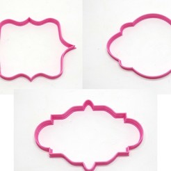 cartelesx3.jpg Download STL file cookie cutters cutters frames pack x3 • Template to 3D print, PatricioVazquez