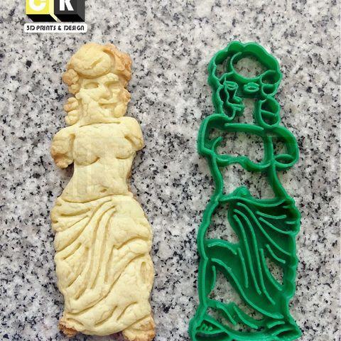 venus.jpg Download STL file Simpsons Gummy Venus De Milo venus jelly cookie cutter • Model to 3D print, PatricioVazquez