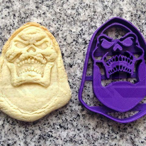 skeletor.jpg Download STL file skeletor cookie cutter for cookies • Template to 3D print, PatricioVazquez