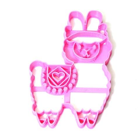 Descargar modelo 3D cortante galletitas cookie cutter llama heart, PatricioVazquez
