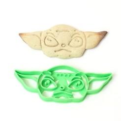 Imprimir en 3D cookie cutter cortante galletitas baby yoda , PatricioVazquez