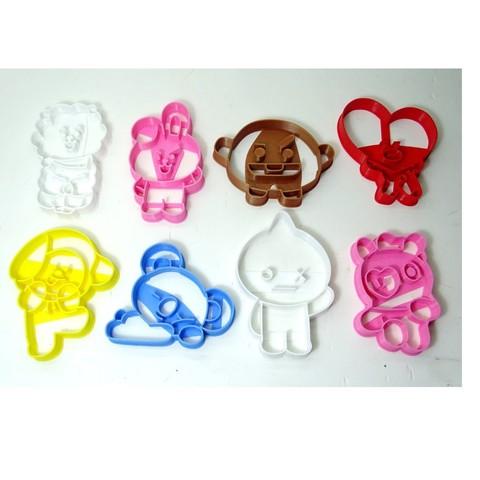 3D print model cookie cutter bts BT21 ALL cookie cutter, PatricioVazquez