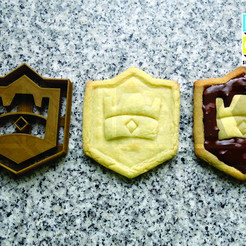 clash royale cookie.jpg Télécharger fichier STL cookie cutter biscuits coupe choc royale • Objet pour impression 3D, PatricioVazquez