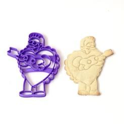 Télécharger plan imprimante 3D les flanders à l'emporte-pièce aiment les simpsons pour la Saint-Valentin, PatricioVazquez