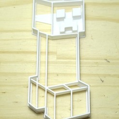 STL file cookie cutter minecraft creeper cookie cutter, PatricioVazquez