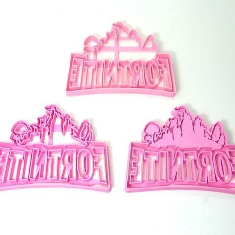 Download 3D printer designs cookie cutter fortnite cookie cutting logo, PatricioVazquez