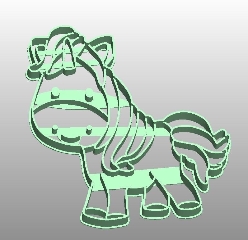 uni ponny.jpg Download STL file unicorn cookie cutter unicorns • 3D print model, PatricioVazquez