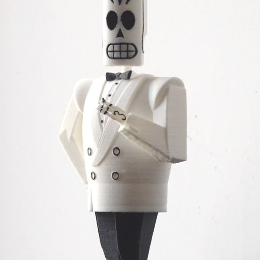 Download 3D printer designs manny skull grim fandango, PatricioVazquez