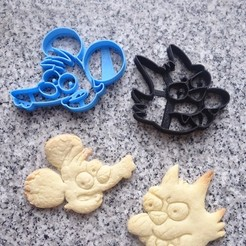 3d printer files ITCHY AND SCRATCHY COOKIE tom and daly, PatricioVazquez