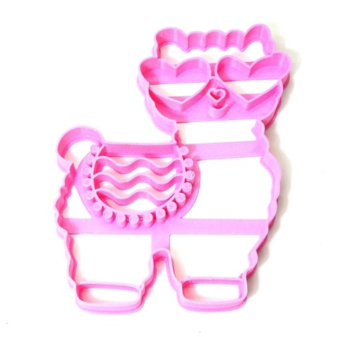 Download 3D printing designs cookie cutter cutting biscuits llama eyeglasses, PatricioVazquez