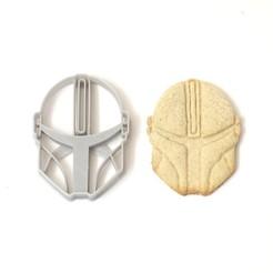 Descargar STL cookie cutter cortante galletitas mandalorian , PatricioVazquez
