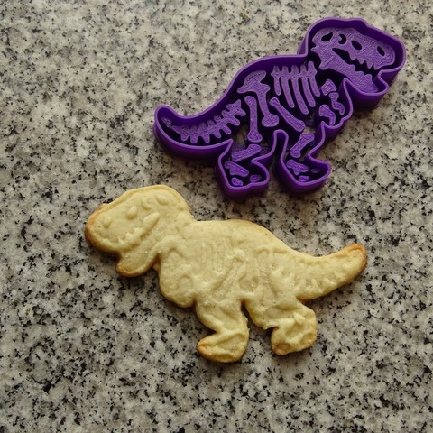 Download 3D printer designs dinosaurs dinosaur cookie cutters T-REX, PatricioVazquez