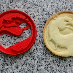 Descargar modelos 3D cookie cutter cortante galletitas mortal kombat, PatricioVazquez