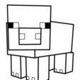 Download 3D printer designs cookie cutter minecraft pig cookie cutter, PatricioVazquez