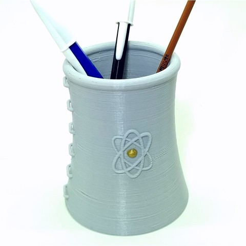 Download 3D print files NUCLEAR TOWER SIMPSONS pencil holder vase nuclear tower, PatricioVazquez