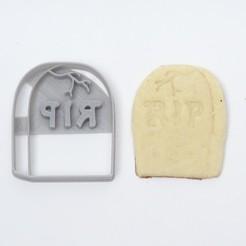 DSC05462.JPG Download STL file cookie cutters halloween cookies tomb rip • 3D print design, PatricioVazquez