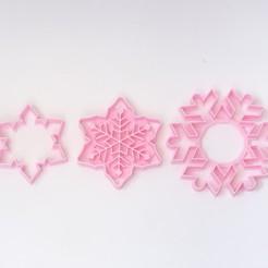 Descargar archivos STL pack snowflakes cortantes cookies copos de nieve, PatricioVazquez